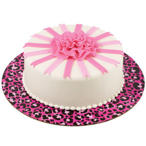 Hot Spots! Pink Ribbon Rose Cake