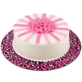 Hot Spots! Pink Ribbon Rose Cake