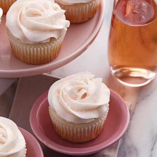 Rose Champagne Cupcakes
