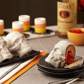 Spiced Apple Mini Skull Lava Cakes