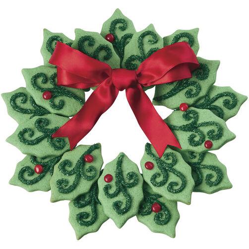 Welcoming Wreath Easy Christmas Cookies