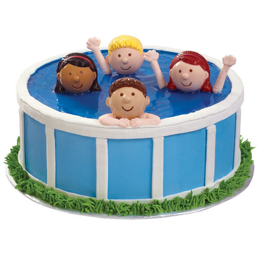 Cake Decorating Course Poole : Heads Up In The Pool Cake Wilton