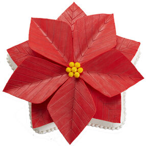 A Perfect Poinsettia Cake