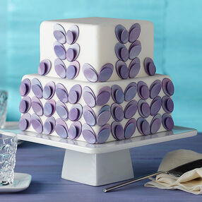 Seeing Double Ovals Fondant Cake