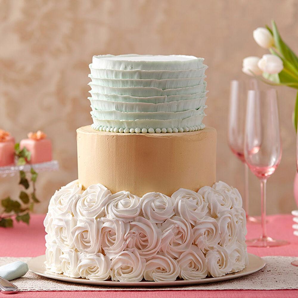 Golden Shimmer Rosette Cake Wilton