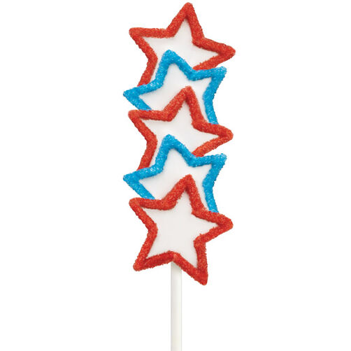 Patriotic Cake on a Stick
