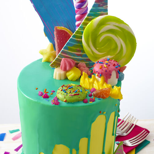 Bold & Bright Candy Explosion Cake