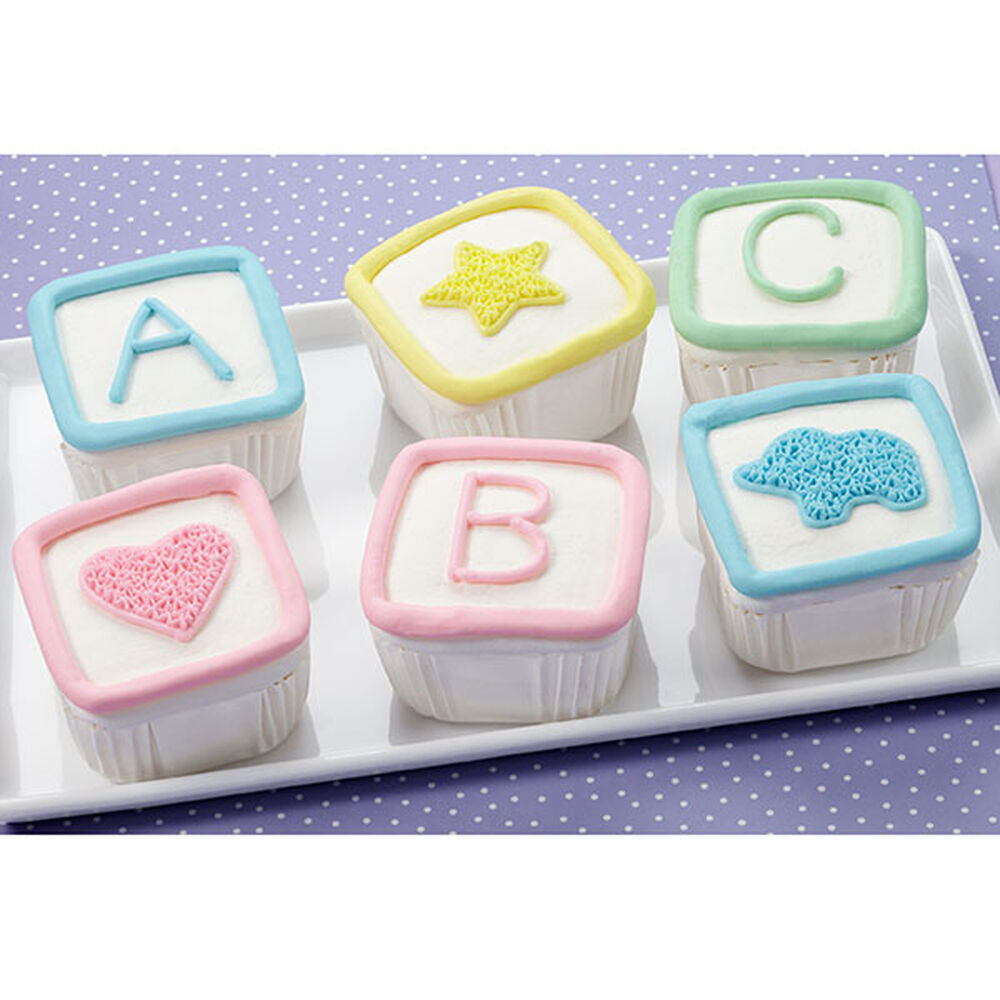Wilton Baby Shower Cake Images : Blockbuster Baby Shower Mini Cakes Wilton