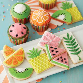 The Fruits of Summer Cupcakes and Cookies