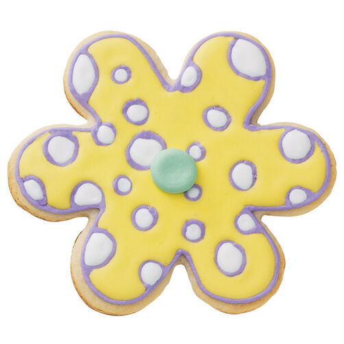 Retro Dots Flower Cookies
