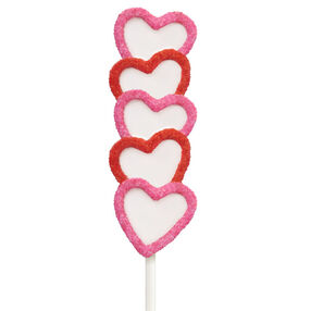Hearts Afire Cake on a Stick
