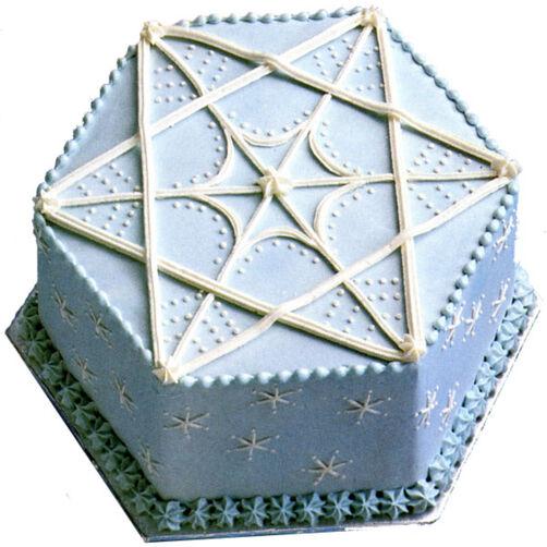 Star Of David Hanukkah Cake Wilton
