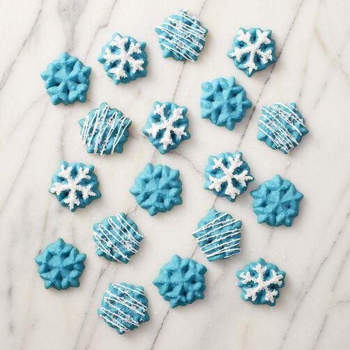 Sparkling Snowflake Spritz Cookies