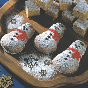 Blonde Brownie Snowmen