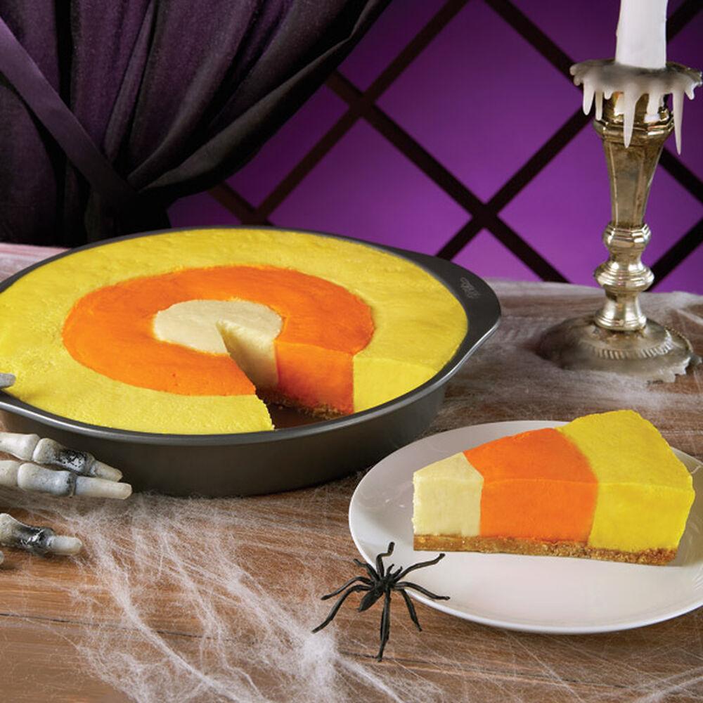 Halloween Dessert Decorations: Candy Corn Cheesecake