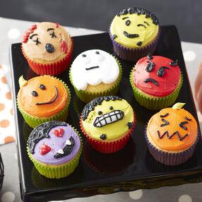 halloween emoji cupcakes