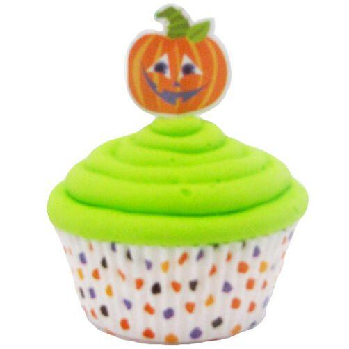 Jolly Polka Dot Jack ?O Lantern Cupcakes