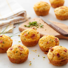 Bacon Cheddar Corn Muffins