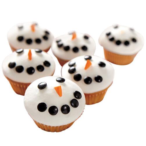 Flaky Friend Snowman Mini Cupcakes