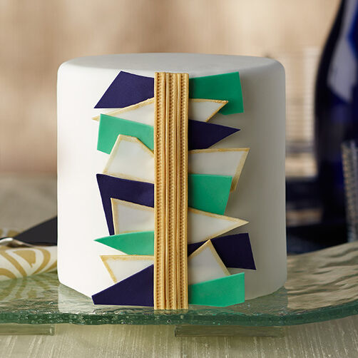 Abstract Art Fondant Cake