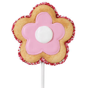 Pink Petal Cookie Pops