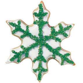 Evergreen Snowflake Cookie