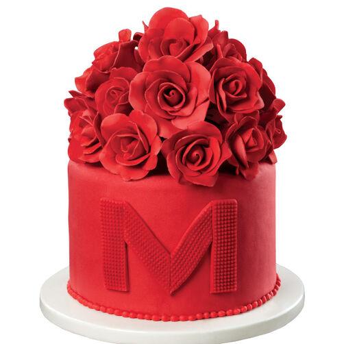Scarlet Splendor Rose Cake