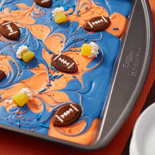 Wilton Football Candy Melts Candy Bark