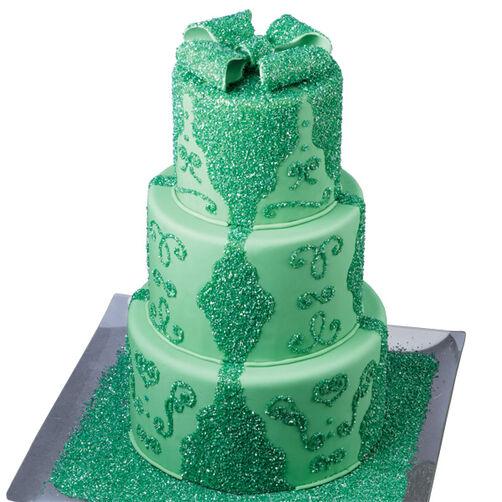 Glimmering Emerald Cake