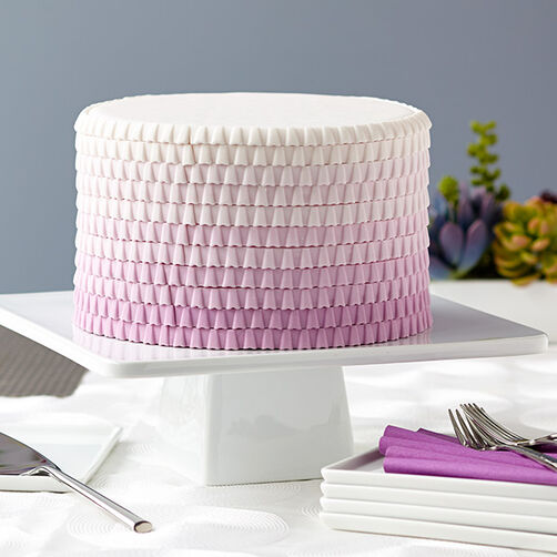 Purple Ombre Ruffled Cake