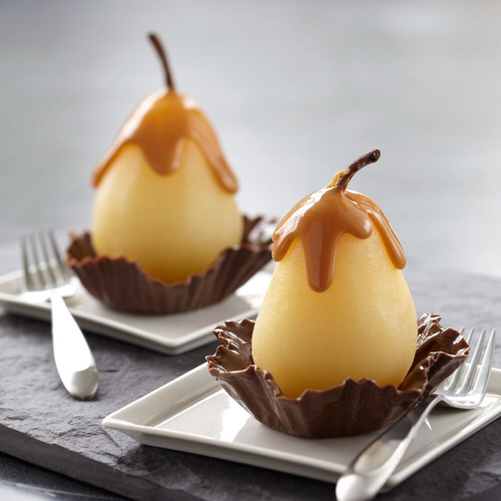 Poached Pear In Candy Cup Wilton