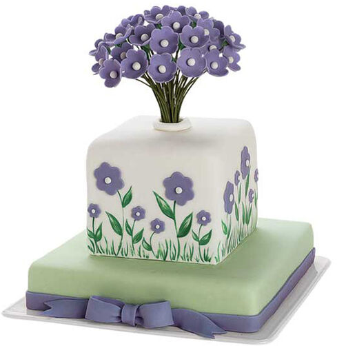 Candied Plant Stems For Cake Decoration Crossword Clue : Wild Flower Bouquet Cake Wilton