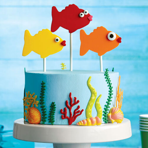 Fishy Fun Candy Topper Cake