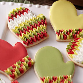 Knitted Mitten Cookies