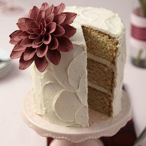Marsala Flower Cake