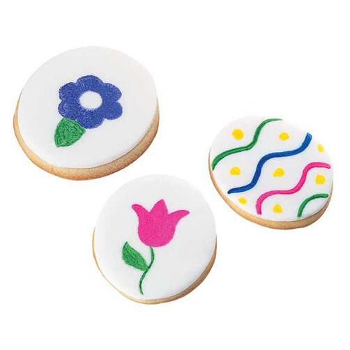 Fondant Goes Vibrant! Cookies