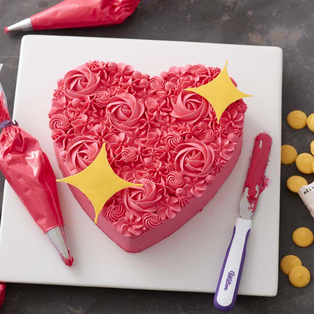 Sparkling Heart Cake Wilton