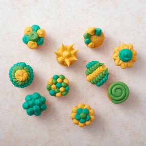 Yellow & Green Cupcakes
