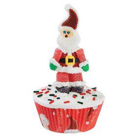 Santa Drops In Cupcakes