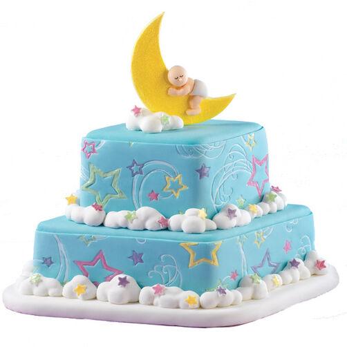 Lunar Lullabyes Baby Cake