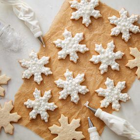 Buttercream Snowflake Cookies