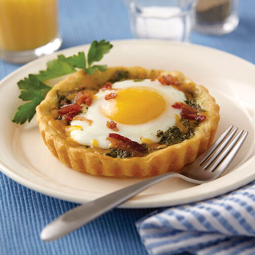 Baked Breakfast Egg Tarts Recipe Wilton