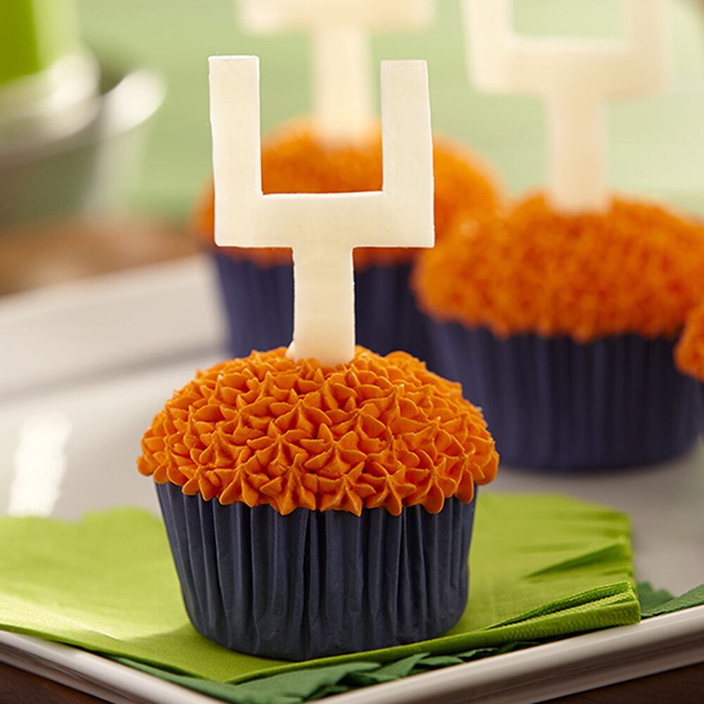 Football Cupcakes With Candy Goal Posts Wilton