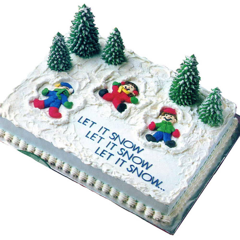 Christmas Cake Ideas Wilton : Snow Much Fun! Cake Wilton