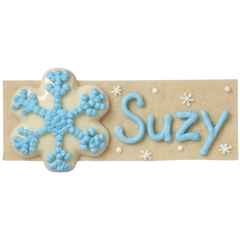 Personalized Snowflake Setting Cookie Wilton