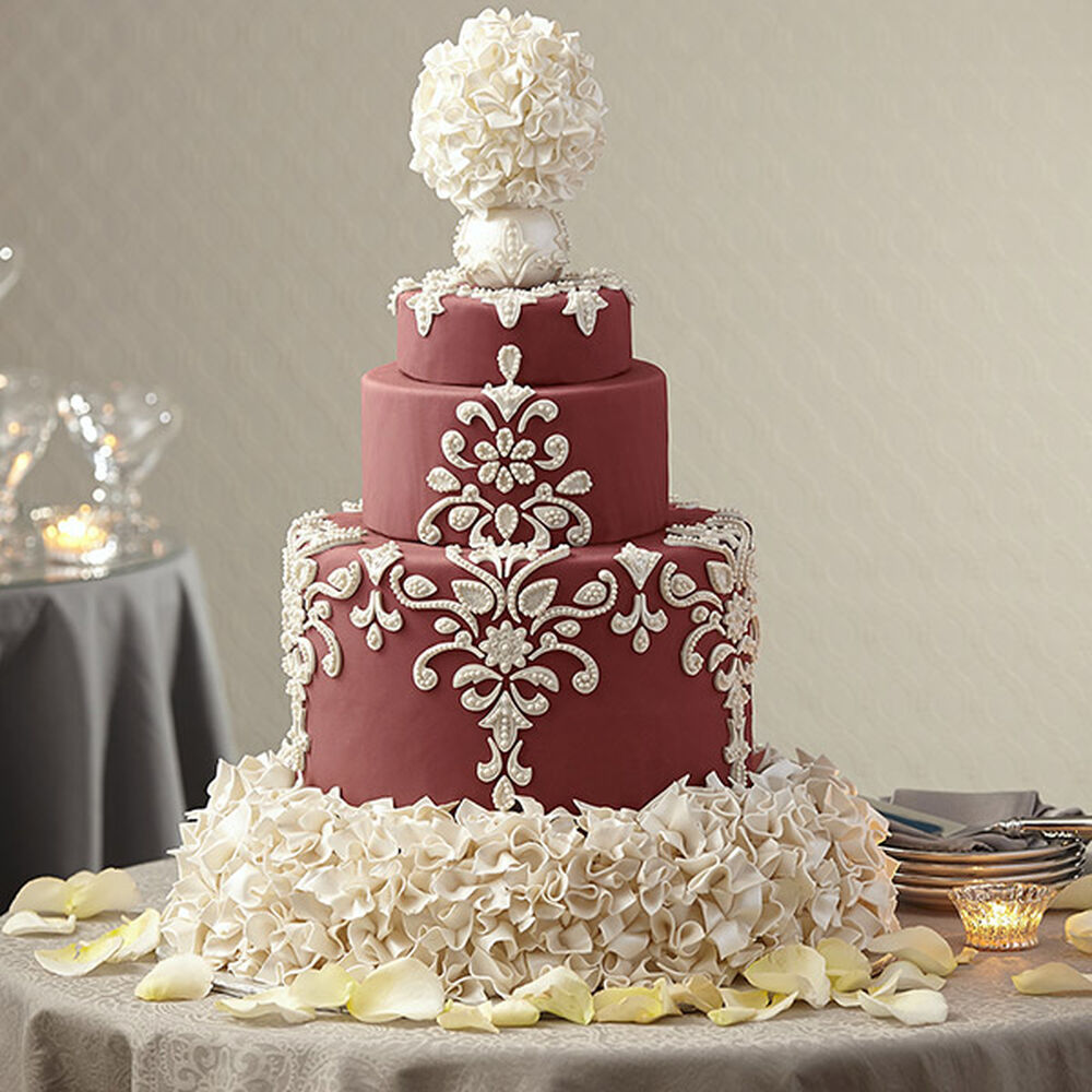 Wedding Cake In Marsala Wilton