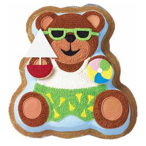 Fun in the Sun Bear Cake