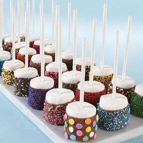 Dazzling Sprinkled Marshmallow Pops