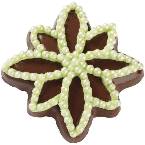 Green Snowflake Cookie