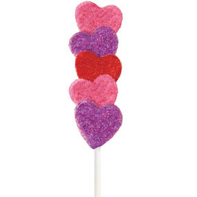 Sparkling Heart Cake on a Stick